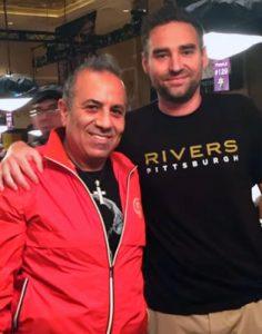 Gambler Sam Ferha with his buddy