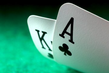 Blackjack game in cards
